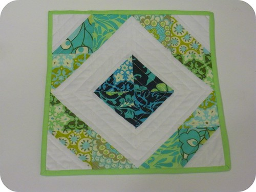 Half Square Triangle Mini Quilt