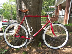 1986 Centurion Dave Scott Ironman (adam.slight) Tags: atlanta classic bike vintage ironman singlespeed blink custom coaster cruiser sylvan touring saddle brooks centurion roadster sopo davescott bikeart deepv slight detonator tange mks maxxis truvativ downtownatlanta coasterbrake oury adamslight
