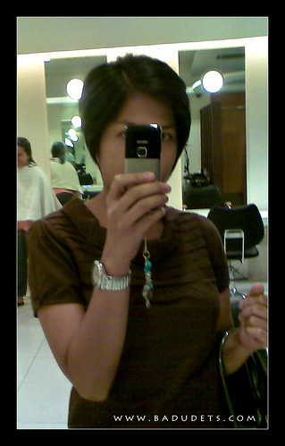 my pixie crop courtesy of Acqua Salon, Trinoma