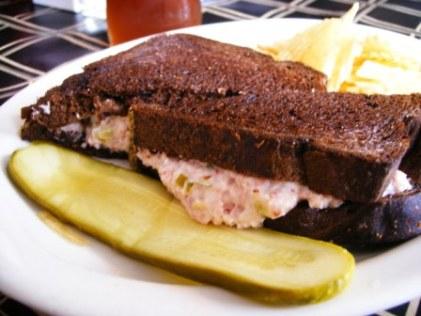 jesperson's grilled ham salad sandwich