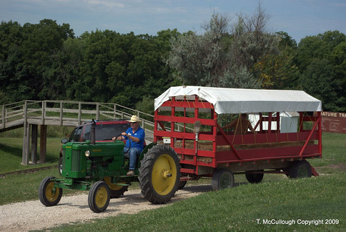 Hay Wagon Shuttle Service At Agriculture Hall of Fame