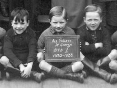 All Saints, West Gorton Manchester (theirhistory) Tags: school boy hair shoes child boots tie trousers jumper shorts wellies