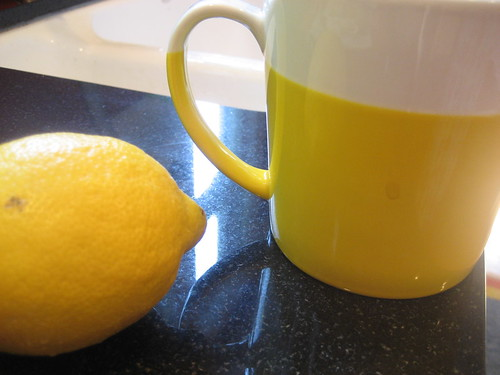 lemon yellow mug
