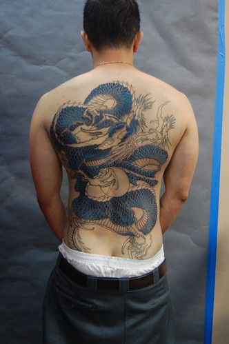 blue Dragon Tattoo. blue dragon