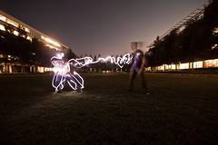 Firing a Taser (Good Ol' Charlie Brown) Tags: longexposure light work graffiti drawing lightgraffiti redwoodcity flashlights sethhall azshall