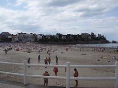 Пляж в Динард, Франция