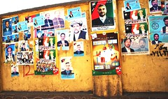 Afghanistan - Election Posters (From Afghanistan With Loveّ) Tags: world travel afghanistan pumpkin democracy election presidential posters vote 2009 voting electorate zeerak safrang hamesha javaid