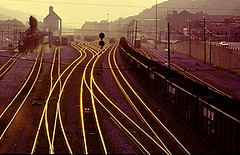Golden Rails (Paul Metaxas) Tags: railroad trains westvirginia rails coal trainspotting goldenhour ilovetrains trainphotography coalhauler paulmetaxas pauljmetaolcom blufield