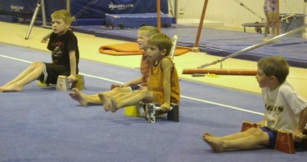 Chase @ Gymnastics class