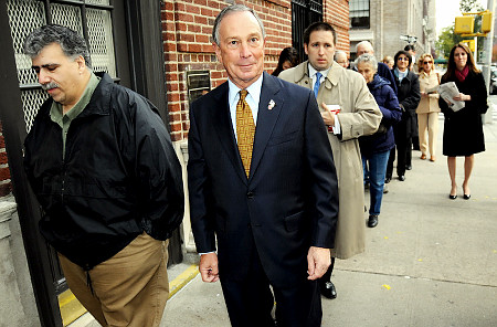 Mayor Bloomberg Votes Election Reform
