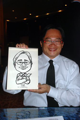 Caricature live sketching for The Law Society of Singapore - 2