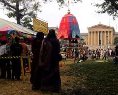 Krishna festival and Art Museum (moocatmoocat) Tags: art philadelphia festival museum colorful parkway krishna hindu yatra vanguard ratha