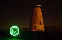 Mill Orb (Pensans) Tags: light red sky green mill mystery night painting circle glow orb spooky odd sphere mysterious unusual unexplained phenomenon anglesey amlwch pensans ghostlystars