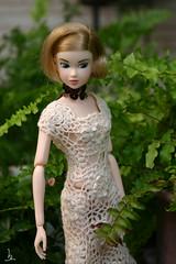 momoko, Silver Crescent (bnkiti) Tags: silver miniature knitting doll handmade knit mini crescent momoko