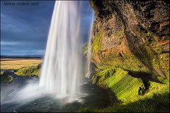 Fall from the sky (Andras Gyorosi) Tags: travel blue shadow sky color reflection verde green water colors landscape island waterfall iceland rainbow nikon colore blu ombra adventure filter cielo lee filters acqua colori riflessi arcobaleno viaggio seljalandsfoss paesaggio belin riflesso izland cascata andras islanda filtro avventura gnd filtri reflevtions d700 andrasgyorosi gyorosi belinspa