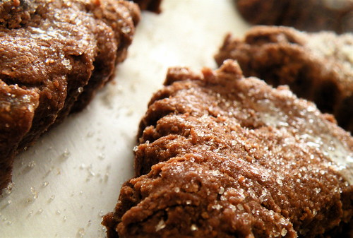 double chocolate ginger scones, ready to bake