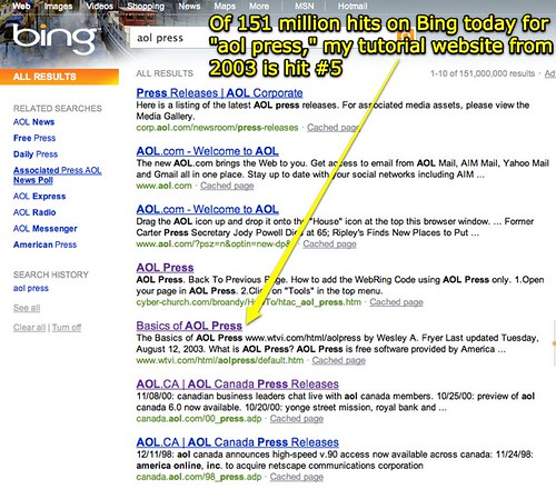 aol press - Bing