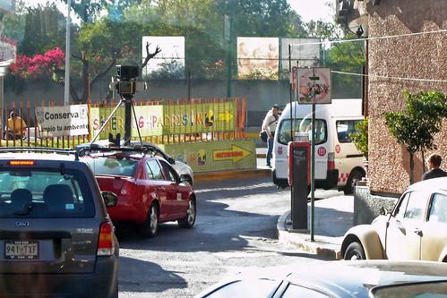 Un automóvil de Google streetview en México