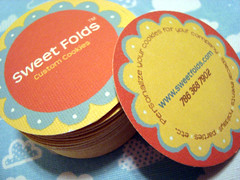 sweet folds - double-sided business cards