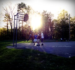 Just Do It (rafalweb (moved)) Tags: street sunset people sun sunlight ny newyork man men sports basketball person evening athletics jumping shadows sony streetphotography cybershot upstate flare shooting oneonta photoscape dscw350