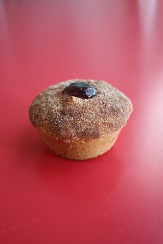 Jam/Chocolate Doughnut Muffins