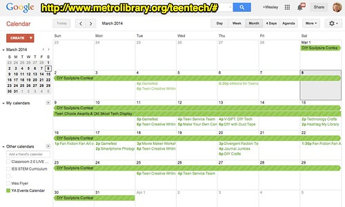 Google Calendar - Youth Events in Metro by Wesley Fryer, on Flickr