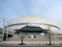 Namihaya Dome - Kadoma, Osaka, Japan (glazaro) Tags: city basketball japan japanese asia stadium arena dome  osaka sendai kansai kadoma namihaya bjleague evessa 89ers
