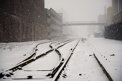 Track & White (stevec77) Tags: winter snow boston misty snowy traintracks tracks rail rails d90 nikond90 bbcopenlab