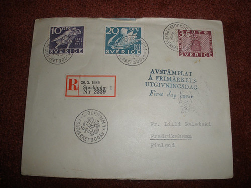A first day cover from 1936, addressed to my grandfather's aunt