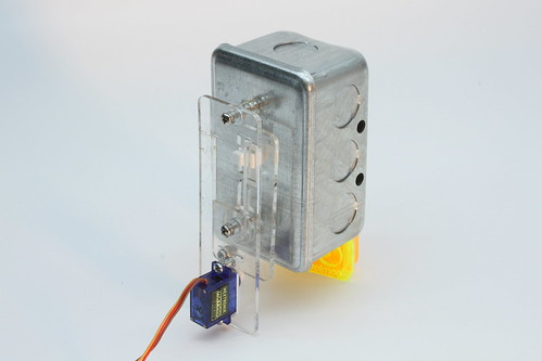 A Servo Switch in a White Surrounding