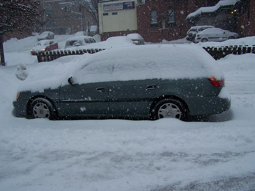 The condition of our car when we went out on Sunday morning.