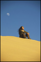Me on the Dune (Izla Kaya Bardavid) Tags: africa people woman selfportrait color girl photo sand nikon desert dunes bluesky colourful namibia sanddunes afrique 5abovestream