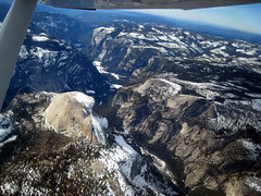 Flight to Pine Mountain and Yosemite in January 2009
