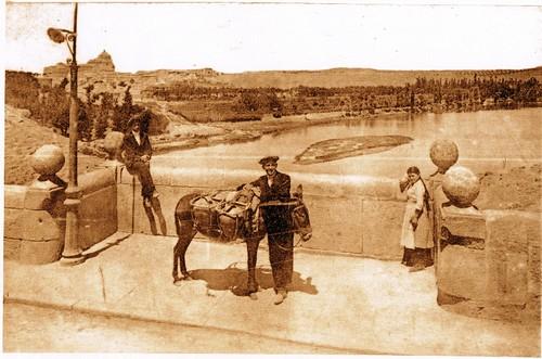 Islote que aparecía cerca del Puente de Alcántara