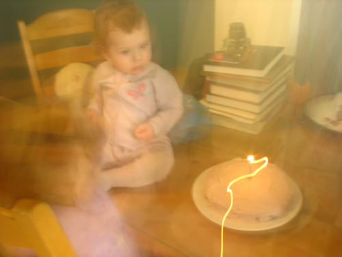 Blurry Birthday candle