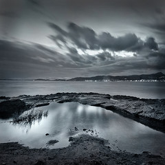 Evening blue (virgipix) Tags: seascape landscape spain mediterranean paisaje mallorca seashore marino balearic 500x500 virgipix winner500x500 artistictreasurechest worldsartgallery virginiahopkins