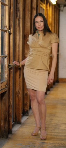 Lisa Charleyboy in earth tones