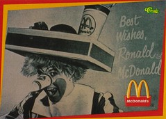 The Original Ronald McDonald - 1963 (The Pie Shops Collection) Tags: classic vintage clown 1996 mcdonalds ronaldmcdonald 1963 tradingcards willardscott