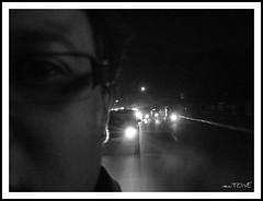 Pop! (crazy_tiger) Tags: urban bw india bike speed lights crazy bangalore fast pop biking nightlife roads shining otw oldmadrasroad