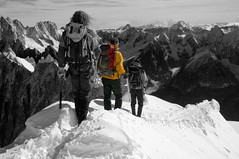 Touching The Void (Paul Sivyer) Tags: mountain alps paul chamonix montblanc climbers aiguilledumidi grance wildwales sivyer