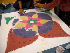 (Jasmin Rosleena) Tags: kolam rangoli colourfulrangoli colourfulkolam