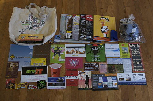 what's in my sxsw schwag bag - photo by joey.parsons - Flickr