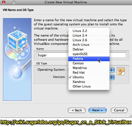Create New Virtual Machine - Sugar