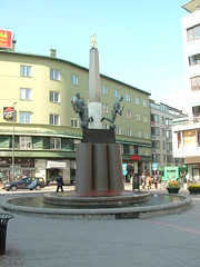 Fountain at the end of Strotorget in Malmo Sweden (litlesam1) Tags: europe sweden malmo scandanavia