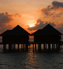 Red sky at night... (Mollow2) Tags: ocean sunset silhouette redsky maldives baros watervilla canonefs1785mmf456isusm canoneos40d