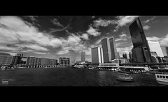 Geometries in Perspective (Kyaw Photography) Tags: urban bw panorama architecture photoshop sydney australia circularquay therocks efs1022mm onepointperspective canoneos450d rebelxsi silverefexpro