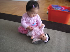 Aki and the new doll