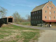 Bollinger Mill and Covered Bridge (whitebuffalobk) Tags: mill missouri coveredbridge burfordville bollingermill 100commentgroup