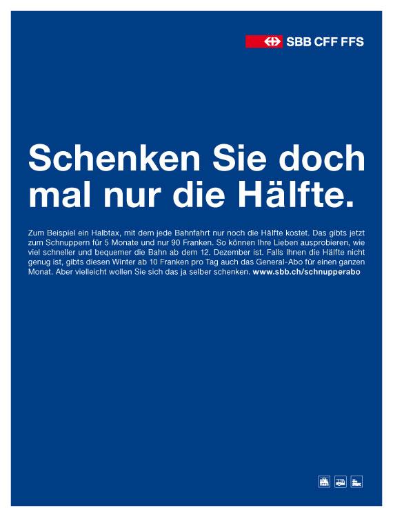 SBB Die Hälfte