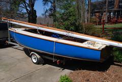 Higlander 17 Rebuild 3-22-09 (4) (CD891) Tags: sailboat highlander repair sail 17 woodboat referbish highlander17